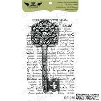 Акриловый штамп Lesia Zgharda RE079 Коллаж - ключ с текстом, размер 4,1х6,4 см
