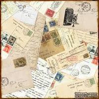 Лист двусторонней бумаги от Echo Park-Darling Damask