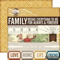 Лист двусторонней бумаги от Echo Park-Always & Forever - ScrapUA.com