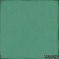 Лист скрапбумаги от Echo Park - Teal / Cream, 30х30 см