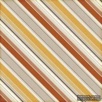 Лист скрапбумаги от Echo Park - Autumn Stripes, 30х30 см
