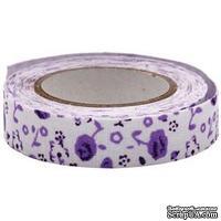 Тканевая клеевая лента Fabscraps - Lilac Blossom