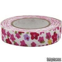 Тканевая клеевая лента Fabscraps - Floral Fantasy/Pink