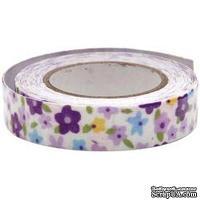 Тканевая клеевая лента Fabscraps - Floral Fantasy/Purple