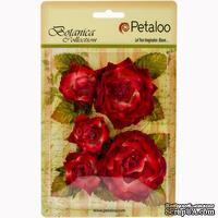 Набор цветов Petaloo - Botanica Garden Roses -Red/Burgundy