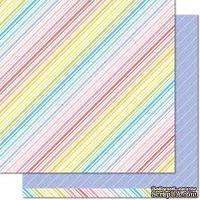 "Лист скрапбумаги от Lawn Fawn - Really Rainbow Double-Sided Cardstock 12""X12"" Purple Posies, 30х30 см - ScrapUA.com"