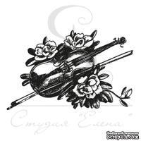 Штамп от Питерского Скрапклуба - Скрипка и Смычок В Цветах