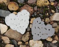 Нож для вырубки от Fluffy Duffy Design - Сердце из речных камушков