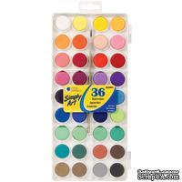 Набор акварельных красок Simply Art Watercolor Paint Cakes, 36 цветов