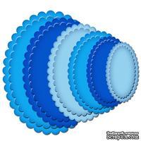 Лезвия от Spellbinders - Petite Scalloped Ovals LG, 6 шт