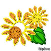 Набор лезвий от Spellbinders - Sunflower Set Two, 4 шт.