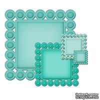 Лезвия от Spellbinders - Beaded Squares, 4 шт