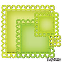 Лезвия от Spellbinders - Leafy Squares,  4 шт