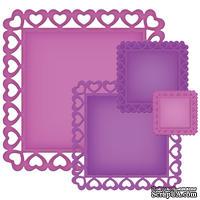 Лезвия от Spellbinders - Heart Squares, 4 шт
