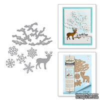 Ножи от Spellbinders - Winter Canopy and Elements Etched Dies Four Seasons by Lene Lok
