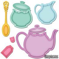 Лезвия от Spellbinders - Tea Service - Чайный сервиз, 8 шт