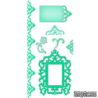 Лезвия от Spellbinders - Antique Frame and Accents, 7 шт