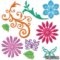 Лезвия Spellbinders - Jewel Flowers and Flourishes