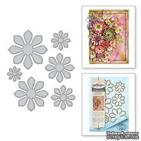 Ножи от Spellbinders – Shapeabilities Succulent and Mum Flower Etched Dies Thoughtful Expressions by Marisa Job