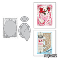 Ножи от Spellbinders - Bella Rose Lattice Layering Frame Large - ScrapUA.com