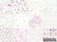 Набор односторонней скрапбумаги от Каралики - Акварельная свадьба, 30х32см, 12 листов, 190г/м2, дизайн Анна Сомова