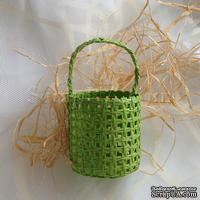 Корзинка маленькая, цвет зеленый, 1 шт.