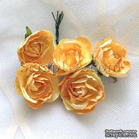 Розочка, цвет желтый, 28 мм, 1 штука