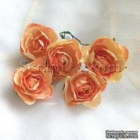 Розочка, цвет оранжевый, 28 мм, 1 штука