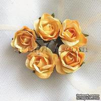Розочка, цвет желто-оранжевый, 23 мм, 1 штука