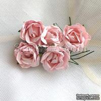Розочка, цвет розовый, 23 мм, 1 штука