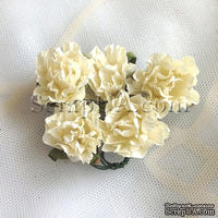 Розочка, цвет белый (слоновая кость), 26 мм, 1 штука