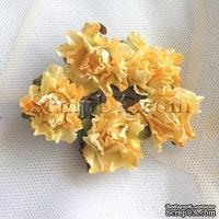 Розочка, цвет желтый, 26 мм, 1 штука
