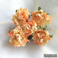 Розочка, цвет оранжево-персиковый, 26 мм, 1 штука