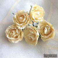 Розочка, цвет кремовый, 32 мм, 1 штука