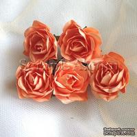 Розочка, цвет оранжевый, 32 мм, 1 штука
