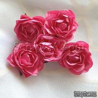 Розочка, цвет ярко-розовый, 32 мм, 1 штука