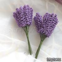Веточки декоративные, цвет фиолетовый, 1 пучок из 10 штук