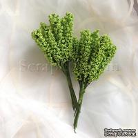 Веточки декоративные, цвет зеленый, 1 пучок из 10 штук