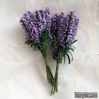 Веточки декоративные с листиками, цвет фиолетовый, 1 пучок из 10 штук