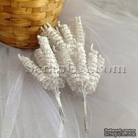 Веточки-спиральки, цвет белый, пучок из 12 штук
