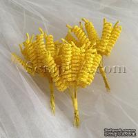 Веточки-спиральки, цвет желтый, пучок из 12 штук