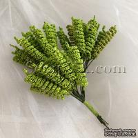 Веточки-спиральки, цвет зеленый, пучок из 12 штук