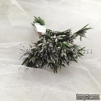 Веточки-тычинки, цвет серебро, пучок из 12 штук