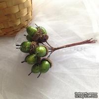 Желуди, цвет зеленый, пучок из 12 штук