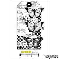 Штамп : Tag : 3 Papillons-Carabelle Studio -  Тэг: 3 бабочки