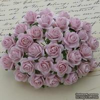 Цветы розочек от Thailand - Светло-розового цвета, 10 мм, 10 шт