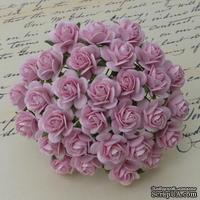 Открытые розочки, цвет нежно-розовый, диаметр - 15мм, 10 шт.