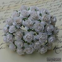 Цветы розочек от Thailand - Белого цвета, 15 мм, 10 шт
