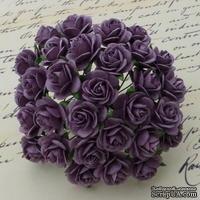 Открытые розочки, цвет пурпурный, диаметр - 15мм, 10 шт.