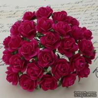 Цветы розочек от Thailand - цвета Фуксии, 10 мм, 10 шт